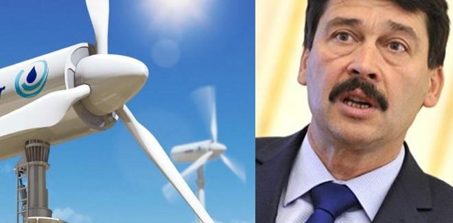 Áder visszaküldte a szélerőművek betiltásáról szóló törvényt a parlamentnek