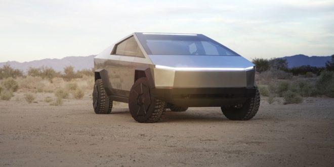 Futurisztikus szörnyeteg a Tesla Cybertruck
