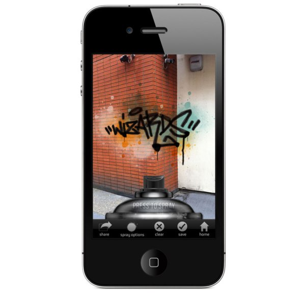 iphone graffiti