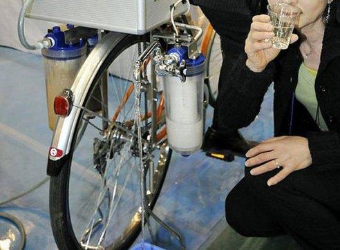 biciklis víztisztító