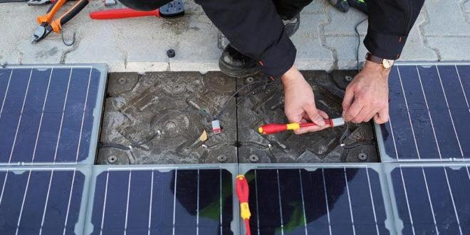 Magyar fejlesztés: napelemes térkövek